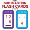 Digital Subtraction Flash Cards in Color (1-9 Shuffled Twice) - Carolyn Kivett, Chris McMullen