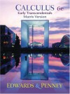 Calculus, Early Transcendentals Matrix Version (6th Edition) - C. Henry Edwards, David E. Penney