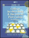 Gregg College Keyboarding & Document Processing for Windows: Lessons 1-60 for Use With Wordperfect 6.1 - Scot Ober, Jack E. Johnson, Robert N. Hanson