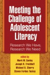 Meeting the Challenge of Adolescent Literacy: Research We Have, Research We Need - Mark W. Conley, Mark W. Conley, Joseph R. Freidhoff, Michael B. Sherry