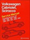 Volkswagen Cabriolet, Scirocco Service Manual: 1985, 1986, 1987, 1988, 1989, 1990, 1991, 1992, 1993: Including Scirocco 16v - Bentley Publishers