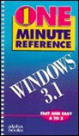 One Minute Windows 3.1 Reference - Lisa Bucki