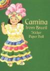 Camina from Brazil Sticker Paper Doll - Yuko Green