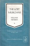 The Lost Musicians - William Heinesen, Erik J. Friis