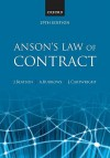 Anson's Law of Contract - Jack Beatson FBA, Andrew Burrows, John Cartwright