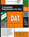 DAT: Complete Preparation for the Dental Admission Test, 2001 Edition: The Science of Review - Aftab S. Hassan, Lippincott Williams & Wilkins