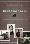Memorable Days: The Selected Letters of James Salter and Robert Phelps - John McIntyre, Robert Phelps, James Salter, Michael Dirda