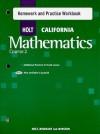 Holt California Mathmatics Course 2 Homework and Practice Workbook - Holt Rinehart