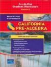 California Pre-Algebra: All-in-One Student Workbook, Version A (Prentice Hall Mathematics Series) - Prentice Hall Publishing