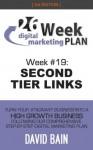 SECOND TIER LINKS: Week #19 of the 26-Week Digital Marketing Plan [Edition 3.0] - David Bain