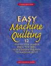Easy Machine Quilting - Jane Townswick