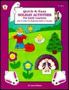 Quick-&-Easy Holiday Activities for Early Learners: Arts & Crafts for Beginning Skills & Concepts - Lynn Brisson