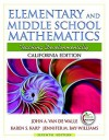 California Edition of Elementary and Middle School Mathematics (with MyEducationLab) (7th Edition) - John A. Van de Walle, Jennifer M. Bay-Williams, Karen S. Karp