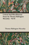 Critical and Miscellaneous Essays, Vol 2 - Thomas Babington Macaulay