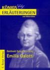 Lessing: Emilia Galotti (Königs Erläuterungen und Materialien, Bd. 16) - Rüdiger Bernhardt, Gotthold Ephraim Lessing