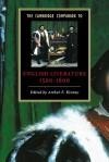 The Cambridge Companion to English Literature, 1500 1600 - Arthur F. Kinney
