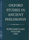 Oxford Studies in Ancient Philosophy: Supplementary Vol 1992: Methods of Interpreting Plato & his Dialogues - James C. Klagge, Nicholas D. Smith, Julia Annas