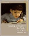 Reading Instruction for Today - Jana M. Mason, Kathryn H. Au