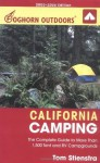 Foghorn Outdoors California Camping: The Complete Guide to More Than 1,500 Tent and RV Campgrounds - Tom Stienstra