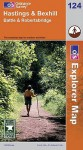 Map: Hastings And Bexhill (Os Explorer Map) - NOT A BOOK