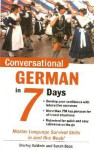 Conversational German in 7 Days Package (Book + 2cds) - Shirley Baldwin, Sarah Boas