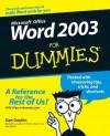 Word 2003 For Dummies - Dan Gookin