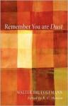 Remember You Are Dust - Walter Brueggemann