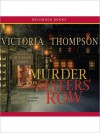Murder On Sister's Row: Gaslight Mystery Series, Book 13 (MP3 Book) - Victoria Thompson, Suzanne Toren
