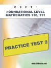 CSET Foundational Level Mathematics 110, 111 Practice Test 2 - Sharon Wynne