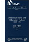 Mathematicians And Education Reform 1990 1991 - Naomi D. Fisher, Harvey B. Keynes