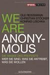 We are Anonymous - Ole Reißmann, Christian Stöcker, Konrad Lischka