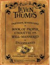 Professor Winsnicker's Book of Proper Etiquette for Well-mannered Sycophants - Obert Skye, Clover Ernest
