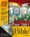 Microsoft Office FrontPage 2003 Bible - Curt Simmons