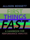 First Things Fast: A Handbook for Performance Analysis - Allison Rossett
