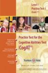 Cognitive Abilities Test CogAT® Primary Level 1 Book (Grade 1) - Practice Test 1 (Form 6) - Mercer Publishing