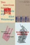 Poetry Pamphlets 1-4 - Lydia Davis, Susan Howe, Eliot Weinberger, Sylvia Legris, Bernadette Mayer