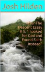 "After The Descent Essay # 5: ""I looked for God and Found Faith Instead"" (After The Descent, #5) - Josh Hilden"