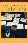 The Best American Poetry 1993 - Louise Glück, David Lehman