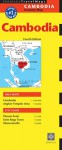 Cambodia Travel Map Fourth Edition - Periplus Editions