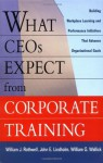 What CEOs Expect From Corporate Training: Building Workplace Learning and Performance Initiatives That Advance - William J. Rothwell