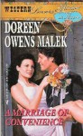 A Marriage of Convenience - Doreen Owens Malek