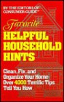 Favorite Helpful Household Hints - Consumer Guide