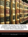 Hearing on the Bill (H. R. 14798) to Establish a Laboratory for the Study of the Criminal, Pauper, and Defective Classes: With a Bibliography - United States Congress - House Committee