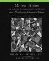 Matemáticas: Un enfoque de resolución de problemas para maestros de educación básica: Volumen uno, blanco y negro (Matematicas, blanco y negro) (Volume 1) (Spanish Edition) - Rick Billstein, Shlomo Libeskind, Johnny W Lott, Manuel López-Mateos