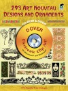 293 Art Nouveau Designs and Ornaments CD-ROM and Book - Dover Publications Inc.
