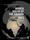 Africa South of the Sahara 2012 - Europa Publications
