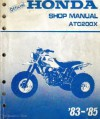 Official Honda Shop Manual ATC200X '83-'85 - Honda Motor Co