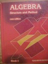 Algebra Structure and Method, Book 1, Teacher's Edition - Mary P Dolciani