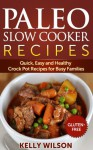 Paleo Slow Cooker Recipes: Quick, Easy and Healthy Crock Pot Recipes for Busy Families (Gluten Free Paleo Crock Pot and Slow Cooker Cookbook Series) - Kelly Wilson