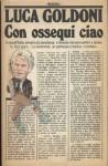 Con ossequi ciao - Luca Goldoni